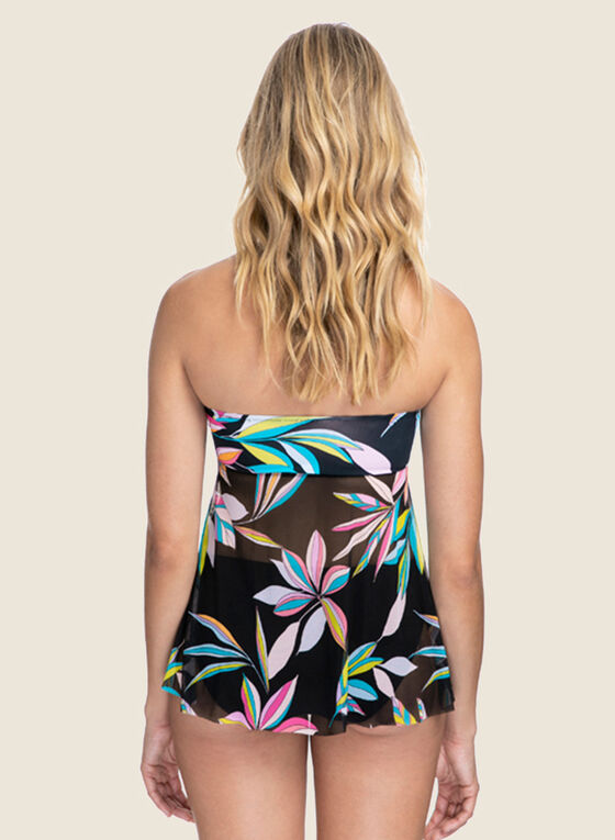 Christina - Two-Piece Floral Swimsuit, Black