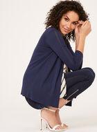 Cardigan ouvert en tricot pointelle et manches ¾, Bleu, hi-res