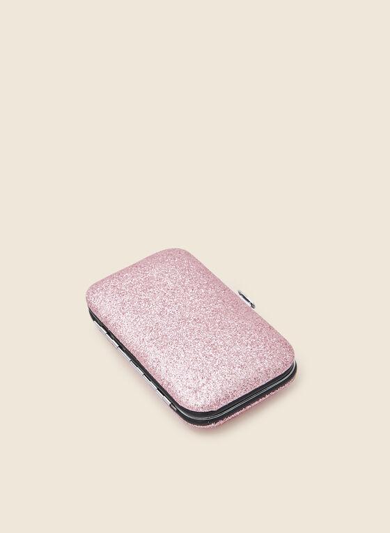 Glitter Detail Manicure Kit, Pink