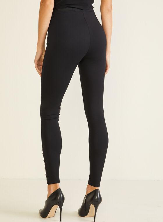 Stud Detail Leggings, Black