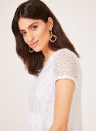 Linea Domani - Blouse manches courtes en crochet, Blanc, hi-res