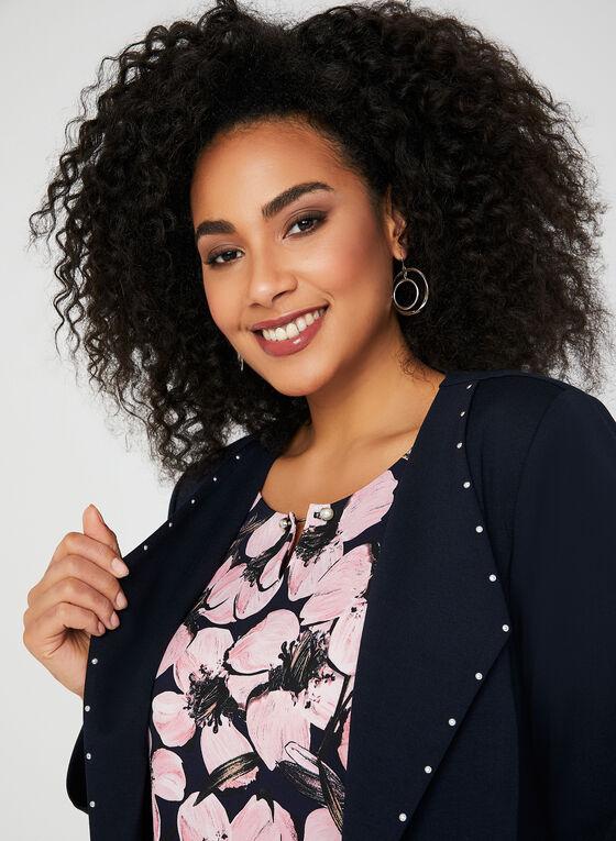 Haut en jersey à imprimé floral, Multi