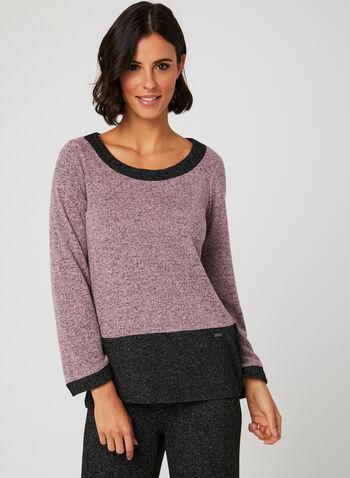 Colour Block Knit Top, Multi, hi-res