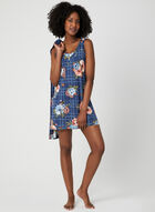Floral Print Nightgown & Robe Set, Blue, hi-res