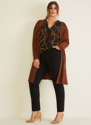 Long Knit Cardigan, Brown,  cardigan, long, long sleeves, fall winter 2020