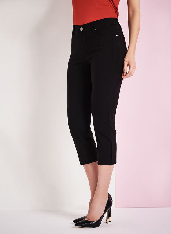 Simon Chang - Micro Twill Capris, Black, hi-res