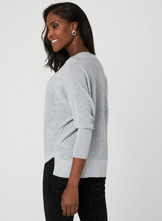 Marina V - Glitter Knit Sweater, Grey, hi-res