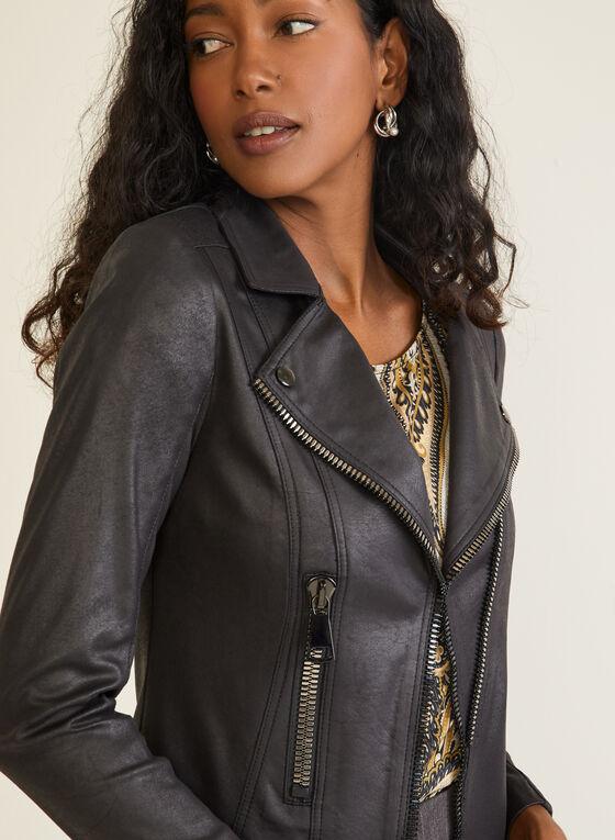 Vex - Faux Suede Jacket, Black