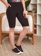 Slim Leg Pull On Shorts, Black
