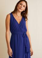 Ruffled Detail Chiffon Dress, Blue