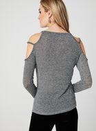 Ness - Metallic Cold Shoulder Top, Grey, hi-res