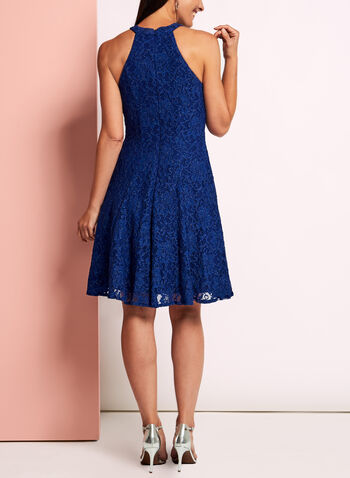 Glitter Lace Fit & Flare Dress, , hi-res