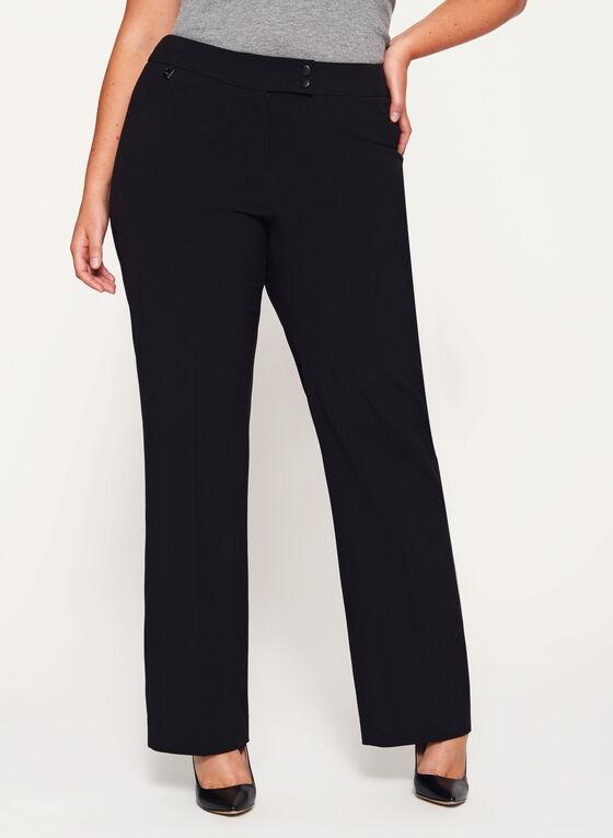 Pantalon coupe moderne à jambe large, Noir, hi-res