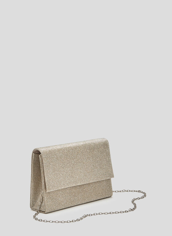 Glitter Evening Clutch, Gold