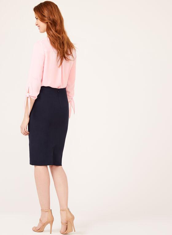 High Rise Grommet Detail Pencil Skirt, Blue, hi-res