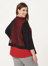3/4 Sleeve Jersey & Mesh Bolero, Black, hi-res