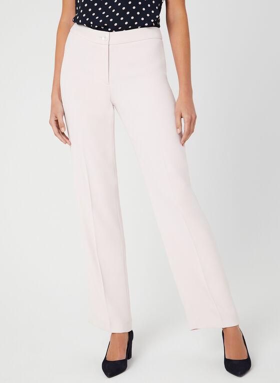 Pantalon coupe moderne à jambe droite, Rose