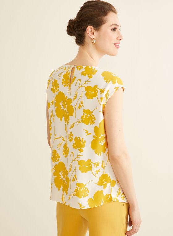 Floral Print Top , White