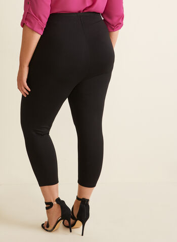 Legging capri en point de Rome, Noir,  capri, pull-on, legging, point de rome, printemps été 2020