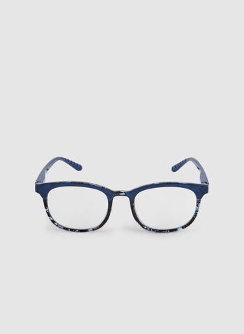 Marble Frame Glasses, Blue, hi-res,  glasses, marble, plastic, fall 2019, winter 2019