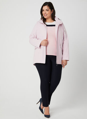 Hooded Raincoat, Pink, hi-res