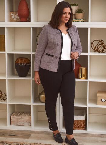Pantalon pull-on à détails cloutés, Noir,  pantalon, pull-on, droit, cloutés, automne hiver 2020