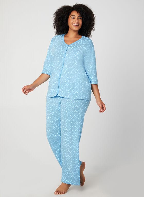 Bellina - Star Print Pyjama Set, Blue, hi-res