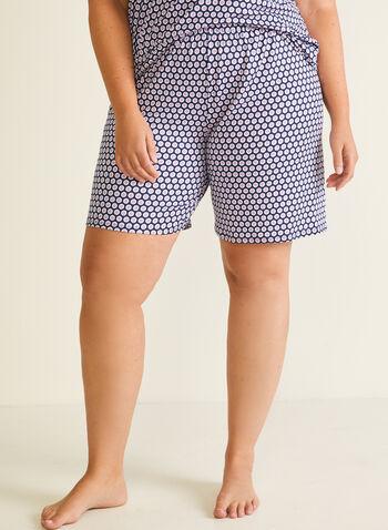 2 Piece Pyjama Set, Blue,  pyjamas, sleepwear, 2-piece, shorts, sleeveless, polka dot, v-neck, pull-on, spring summer 2020