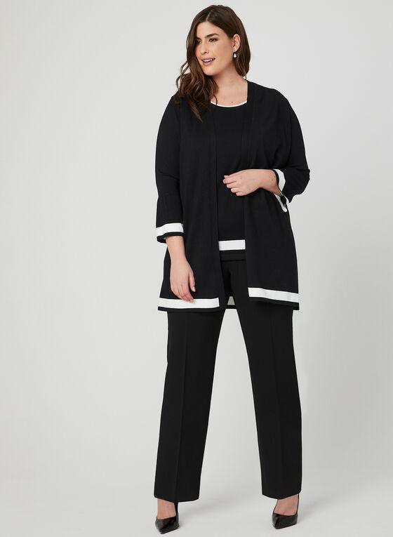Haut en tricot sans manches , Noir, hi-res