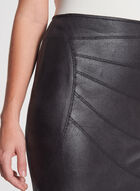 Vex - Cracked Faux Suede Pencil Skirt, Black, hi-res
