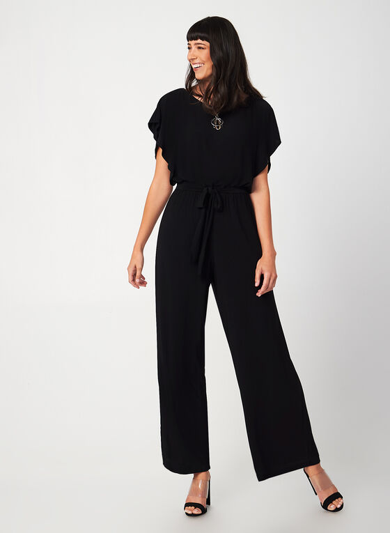 Emma & Michele - Wide Leg Jumpsuit, Black, hi-res