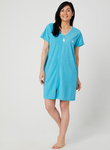 René Rofé - Terry Nightshirt, Blue,  spring 2019, summer 2019, shell, embroidered, terry cloth