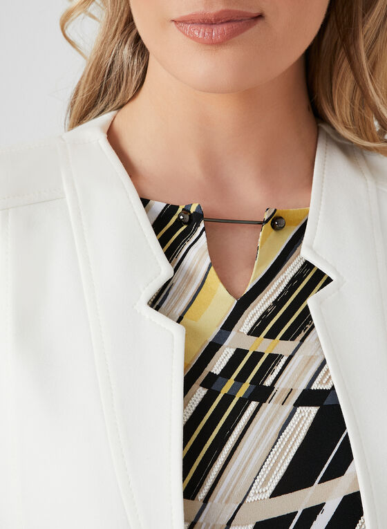 Abstract Print Jersey Top, Yellow