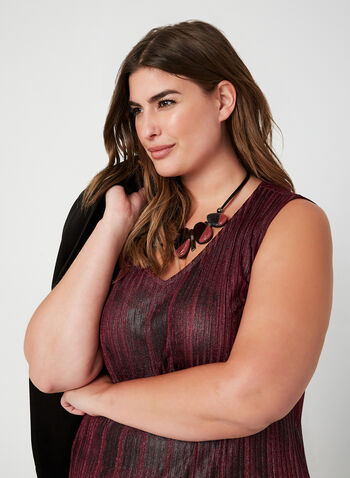 Vex - Sleeveless Knit Top, Red, hi-res,  fall winter 2019, rib-knit fabric, sleeveless