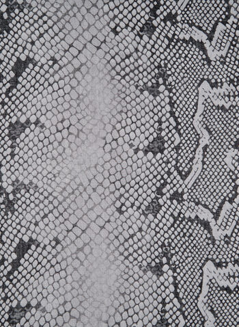 Foulard léger à imprimé peau de serpent, Gris, hi-res