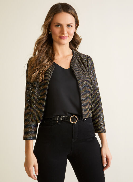 Boléro en tricot scintillant, Noir