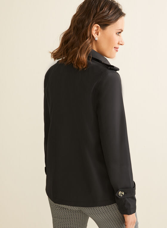 Novelti - Hooded A-line Coat, Black