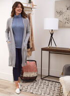 Long Sleeve Knit Cover Up, Grey