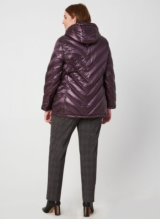 Quilted Down Jacket, Purple
