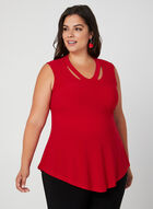 Joseph Ribkoff - Sleeveless Jersey Top, Red