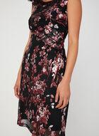 Robe en maille filet à imprimé floral, Noir, hi-res