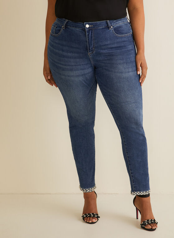 Frank Lyman - Pearl Hem Jeans, Blue