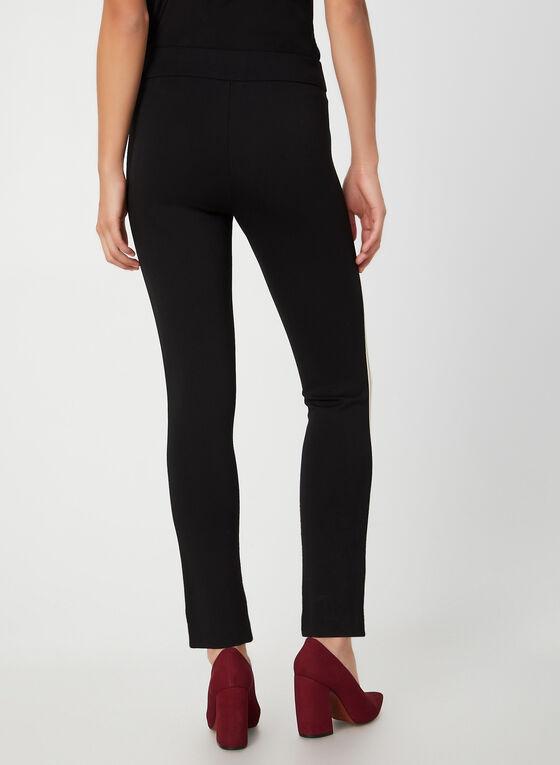 Pantalon pull-on à bandes contrastantes, Noir