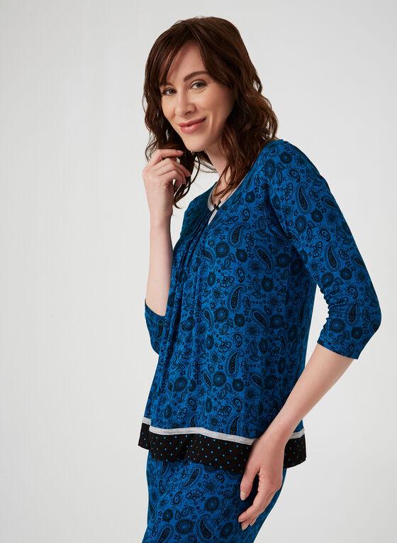 René Rofé - Pyjama 2 pièces imprimé cachemire, Bleu, hi-res