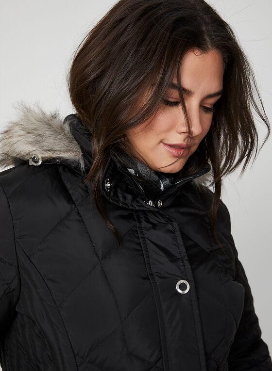 Manteau matelassé en duvet véritable, Noir