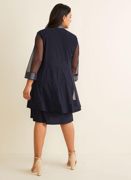 Metallic Detail Jacket & Dress, Blue