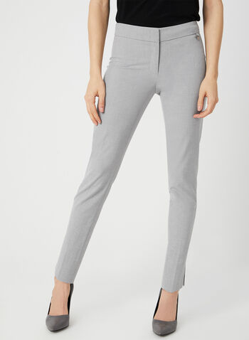 City Fit Slim Leg Pants, Grey,  spring 2019, summer 2019, slim leg, city fit, stretchy fabric, ankle length