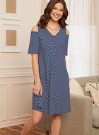 Stripe Print Dress, Blue