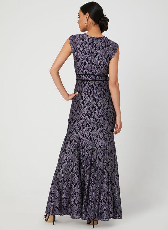 Glitter Lace Mermaid Dress, Purple, hi-res