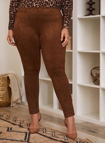 Legging en faux suède, Beige,  pantalon, legging, pull-on, faux suède, automne hiver 2020